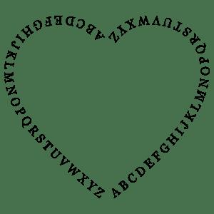 Alphabet Heart